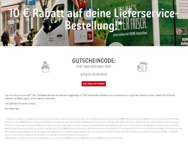 Rewe: 10 Euro Rabatt und Extra-Payback-Punkte beim Lieferservice