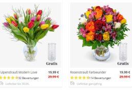 Weltfrauentag: Rosenstrauß mit Vase für 24,98 Euro frei Haus