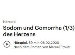 """Gratis: Hörbuch """"Sodom und Gomorrha"""" beim Deutschlandfunk im Stream"""
