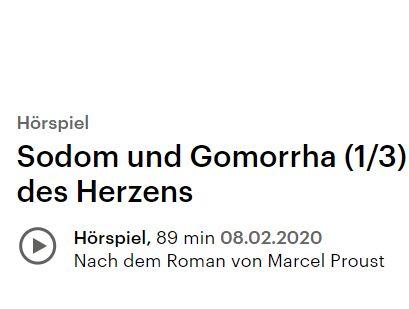 """ratis: Hörbuch """"Sodom und Gomorrha"""" beim Deutschlandfunk im Stream"""