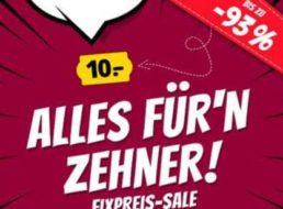 Sportspar: 10-Euro-Sale mit 90 Markenprodukten bis Mittwoch nachmittag