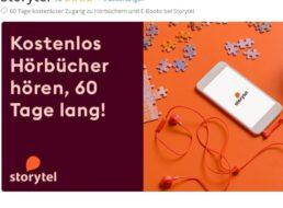 Gratis: Zwei Monate Hörbuch-Flat bei Storytel via Groupon