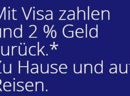 Visa: 2 Prozent Cashback bis zum 15. April 2020