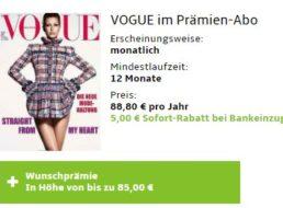 Vogue: Jahresabo für 83,80 Euro mit Gutscheinen über 85 Euro