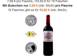 Weinvorteil: Prämierte Weine ab 2,99 Euro im 18er-Paket