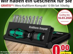 Völkner: Wera-Bitset im Wert von 24,79 Euro zum Nulltarif