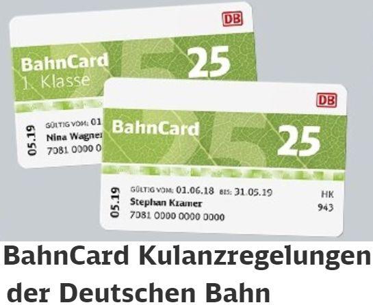 Gratis: Bahn-Gutschein über 10 - 50 Euro für BahnCard-Kunden