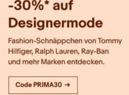 Ebay: 30 Prozent Rabatt auf Markenmode von Nike, Lacoste und anderen