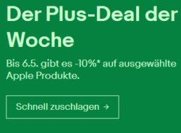 Ebay: 10 Prozent Rabatt auf ausgewählte Apple-Produkte