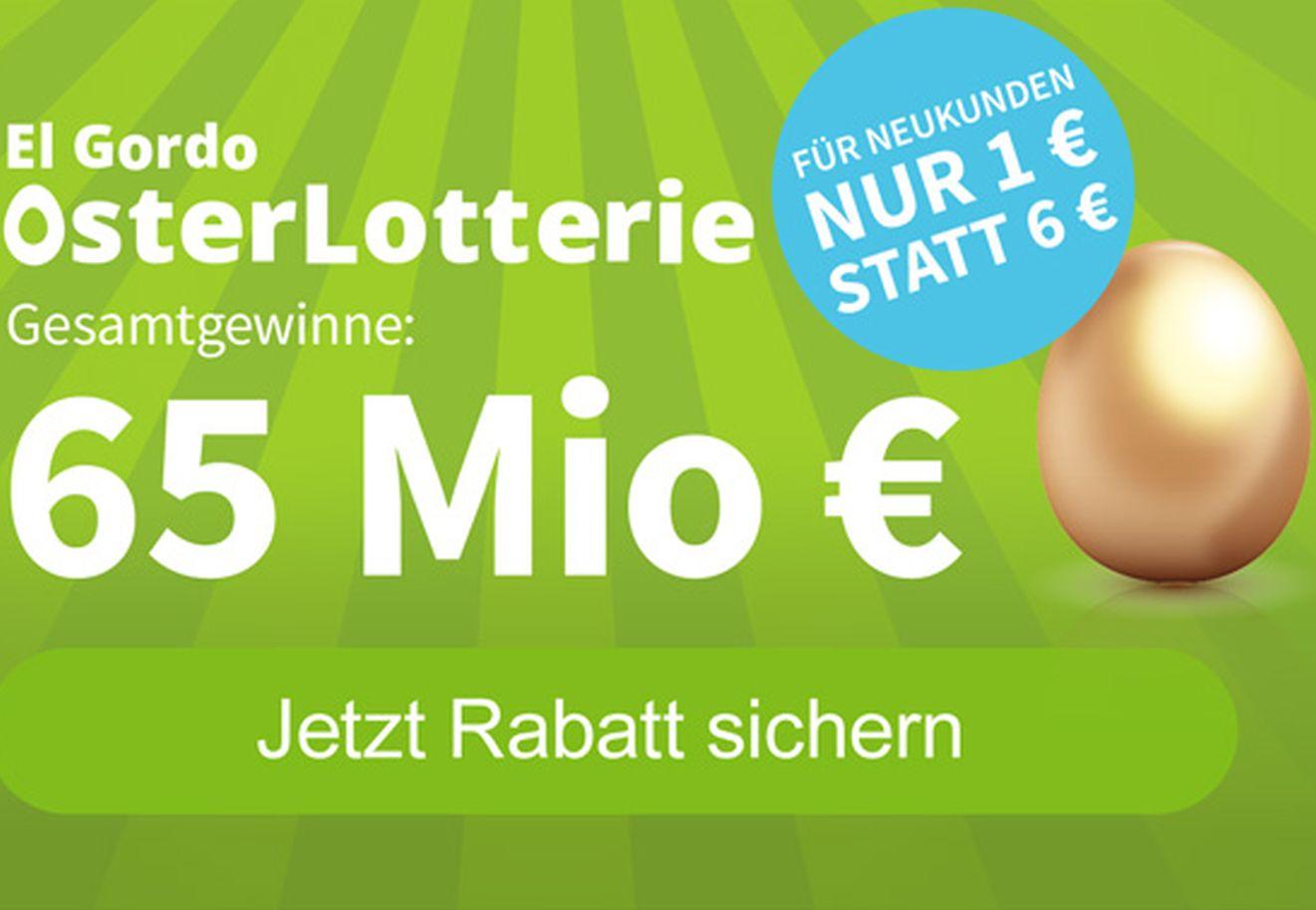 El Gordo: Oster-Lotterie mit Gewinnchance von 1:3 zum Preis von einem Euro