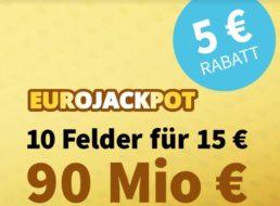 Euro-Jackpot: Zehn Spielfelder zur Rekordsumme mit fünf Euro Rabatt