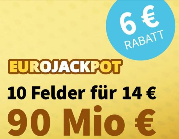 Euro-Jackpot: 10 Felder für 14 statt 20 Euro, Neukunden spielen gratis