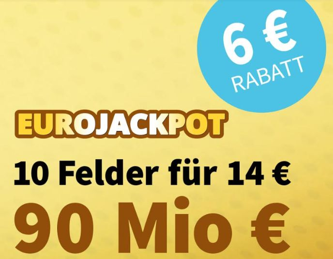 Knaller: Euro-Jackpot mit Rekordsumme in Verlängerung, 6 Euro Rabatt