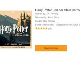 "Gratis: ""Harry Potter"" als 10-Stunden-Hörbuch bei Audible im Stream"