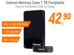 Notebooksbilliger.de: TByte-Festplatte plus USB-Stick für zusammen 46,89 Euro
