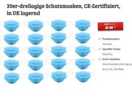 Maskenpflicht: Stoffmasken und Mundschutzmasken zu Bestpreisen