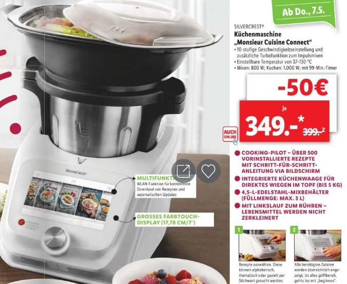 Lidl Monsieur Cuisine Connect Skmc 1200 C3 Fur 349 Euro Im