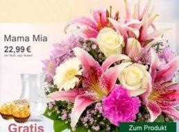 Muttertag: Strauß mit Vase, Ferrero Rocher und Karte für 22,99 Euro