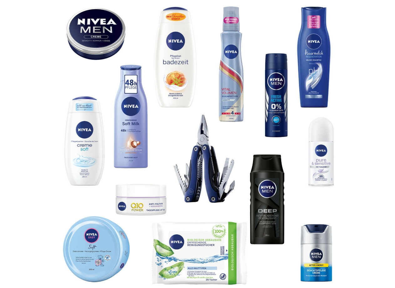 Nivea: Vorteilspack mit 14 Produkten für 24,99 Euro frei Haus