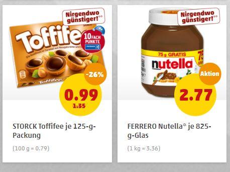 Penny: Nutella und Toffifee zu Schnäppchenpreisen
