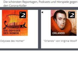 "Gratis: Hörspiele und Podcasts ""gegen den Corona-Koller"""