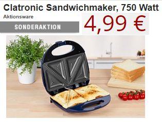 Druckerzubehoer: 500 Blatt Kopierpapier für 2,49 Euro, Sandwichmaker für 4,99 Euro