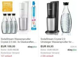 Ebay: Sodastream-Aktion mit Gläsern, Karaffen und Starterset