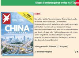 """Gratis: 13 Ausgaben """"Stern"""" zum Nulltarif frei Haus"""