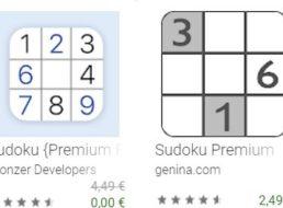 Gratis: App Sudoku {Premium Pro} bei Google für 0 statt 4,49 Euro