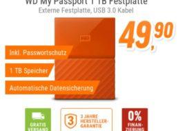 NBB: Externe WD-Festplatte mit Verschlüsselung für 49,90 Euro frei Haus