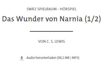 """Gratis: Kinder-Hörspiel """"Das Wunder von Narnia"""" beim SWR zum Nulltarif"""