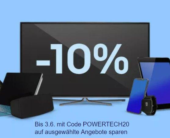 Ebay: 10 Prozent Technik-Rabatt für zwei Wochen