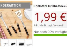 Druckerzubehoer: Edelstahl-Grillbesteckset für 1,99 Euro