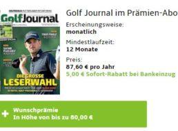 """""""Golf Journal"""": Jahresabo für 82,60 Euro mit Gutschein über 80 Euro"""