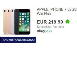 Ebay: iPhone 7 als B-Ware für 197,91 Euro frei Haus