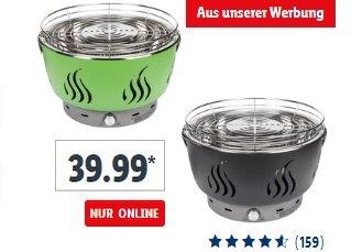 "Lidl: Belüfteter Holzkohlegrill ""FLG 34 C1"" für 39,99 Euro plus Versand"