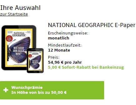 National Geographic: Digitales Abo für 49,96 Euro mit Gutschein über 50 Euro