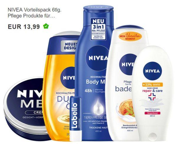Nivea: Vorteilspack bei Ebay für 13,99 Euro frei Haus