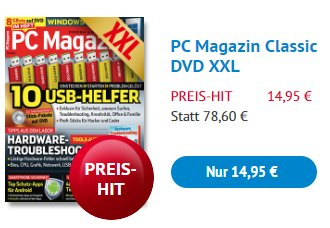 Knaller: PC Magazin Classic DVD XXL im Jahresabo für 14,95 Euro
