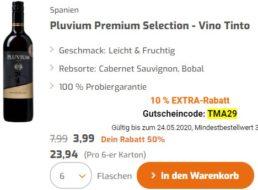 Weinvorteil: 10 Prozent Rabatt auf bereits reduzierte Weinpakete