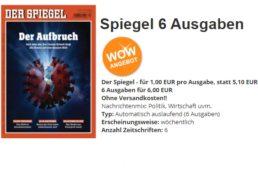 """""""Der Spiegel"""": 6 Ausgaben mit automatischem Abo-Ende für 6 Euro"""