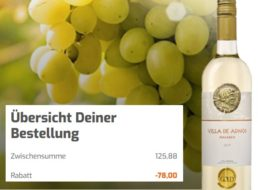 Exklusiv: 12er-Paket goldprämierter Weißwein für 47,88 Euro
