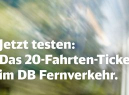 Bahn: 20-Fahrten-Ticket für Pendler ab sofort im Angebot