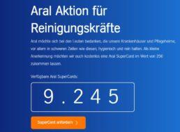 Gratis: Tankgutschein über 25 Euro für Reinigungskräfte