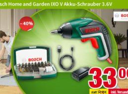 Völkner: Bosch-Akkuschrauber IXO V für 33 Euro frei Haus