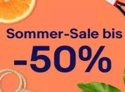 """Ebay: Sommer-Sale mit """"bis zu 50 Prozent Rabatt"""" auf Aktionsware"""