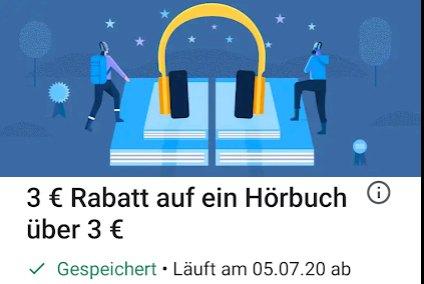 Google Play: 3 Euro Hörbüch-Rabatt ab 3 Euro Warenwert