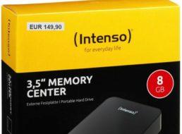 Ebay: Intenso Memory Center mit acht TByte für 149,90 Euro