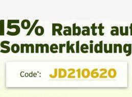 Jeans Direct: 15 Prozent Rabatt auf Sommermode bis Dienstag
