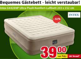 Völkner: Intex-Luftbett mit integrierter Pumpe für 39 Euro frei Haus